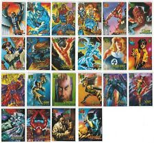 1995 MARVEL MASTERPIECES SERIES IV 4 CANVAS COLLECTION 22 CARD INSERT CHASE SET