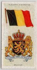 Belgium Flag Banner Emblem Brussels Europe 1930s Ad Trade Card