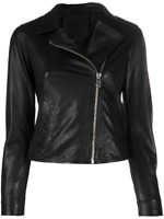 Black Leather Jacket Women Pure Lambskin Size XS S M L XL XXL Custom Made