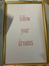 Pottery Barn Kids Sentiment Pinboard Follow Your Dreams Wall Teen Christmas New