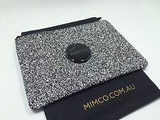 BNWT MIMCO SPARKS medium POUCH WALLET BLACK white matt black