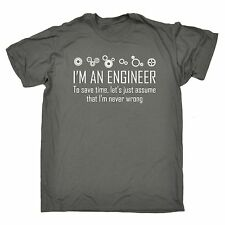 Im An Engineer To Save Time Never Wrong T-SHIRT Geek Math Funny birthday gift