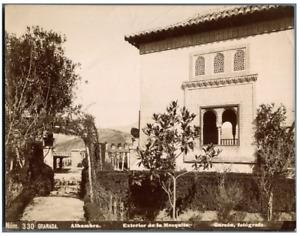 Garzon, Espagne, Granada, Alhambra - Exterior de la Mezquita  Vintage citrate pr