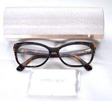 3363d3056030 JIMMY CHOO JC146 PUU Animal Havana Eyeglass Glasses Frames 55-15-140