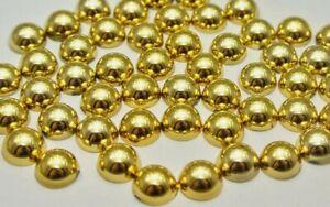 8mm Flatback Metallic Gold Pearls 100 USA 🇺🇸SELLER