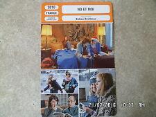 CARTE FICHE CINEMA 2010 NO ET MOI Julie Marie Parmentier Nina Rodriguez