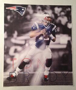 "Tom Brady FATHEAD Player Mural Graphic 18"" x 15"" Patriots NFL Wall Graphics"