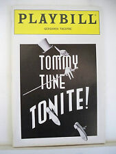TOMMY TUNE TONITE Playbill TOMMY TUNE Opening Night NYC 1992