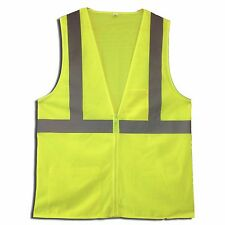 Lot of 24 Class 2 Lime Green Hi-Viz ANSI Safety Vests with Zipper M-5XL New
