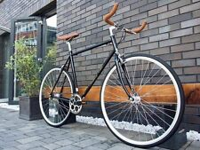 Hackney BLACK Classic Vintage Single Speed freewheels Fixed Gear fixie Road Bike