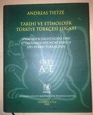 Andreas Tietze Tarihi ve Etimolojik Turkiye Turkcesi Lugati  Cilt 1