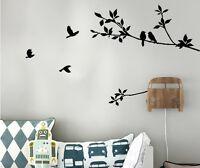 Removable Sticker Bedroom Decor Vinyl Art Wall Decals Black Birds Branch Tree