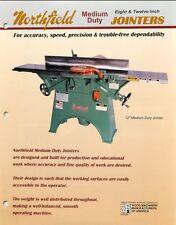 "Northfield 8"" & 12"" Medium Duty Jointer Operation & Parts List PDF"