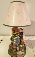 Vintage Gardening Arborist Bunny Carrot Shade Table Lamp