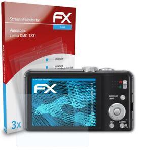 atFoliX 3x Displayschutzfolie für Panasonic Lumix DMC-TZ31 Schutzfolie klar