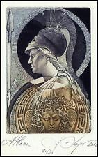 Kerin Hristo 2012 Exlibris C3 Mythology Athena Medusa Woman 123