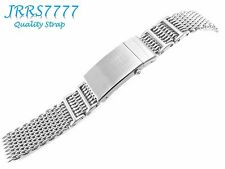 22mm high quality stainless steel SHARK mesh bracelet Watch Silver Brushed new