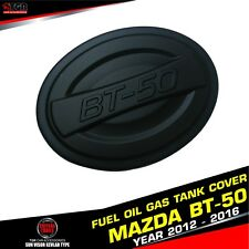 MATTE BLACK FUEL OIL GAS TANK COVER  FIT FOR TRUCK MAZDA BT-50 PRO 2012-2016