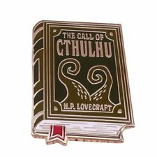 badge Hp Lovecraft brooch cool bookworm The call of cthulhu pin book literature