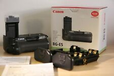 Genuine Original Canon Battery Grip BG-E5 Ex display with both carts manuals etc