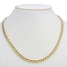 18K Yellow Gold GL Medium Curb Solid Men's /Women's Unisex Necklace & Clasp 45cm