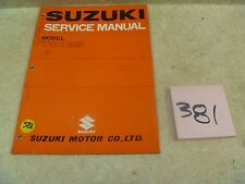 Suzuki 125 TC TC125 Used OEM Service Shop Manual #VP-MAN381