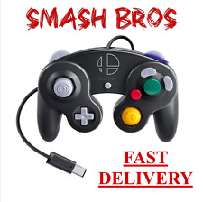 Nintendo Game Cube GC SUPER SMASH BROS BLACK CONTROLLER Smash Brothers EXPEDITED