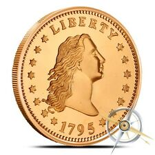 1 OZ .999 Fine Copper Flowing Hair Round Bullion  - AVDP  - Coin