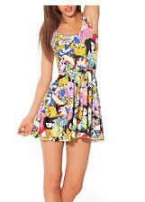 Hot Fashion Women Ladies 3D Classic Adventure Time Patchwork Print Dress