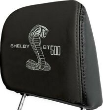 07-09 Shelby GT500 Headrests, Leather, Pair, Black