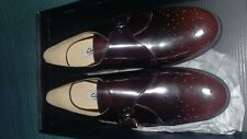 BNW box Clarks Busby Jazz ladies ox blood shoes size 7 wide fit Rrp £69