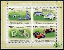 Togo Cars Stamps 2011 MNH Ecological Vehicles Hyundai Eco Mercedes Benz 4v M/S