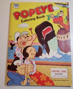 "POPEYE Coloring Book ""Marine Land Show"" 1971 Whitman"