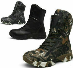 Mens Waterproof Combat Army Military Shoes Tactical Boots Walking Hunting Boots