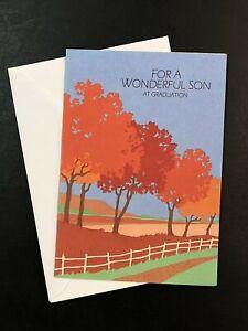 Graduation Card w/ Envelope ~ For a Wonderful Son