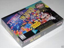 Tetris & Dr. Mario (Super Nintendo) ..Brand NEW! VhTf! h-seam!