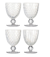 Pulcinella Small Wine Glasses, Set of 3 - White (1 Glass Damaged )
