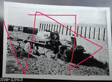 original  Foto  Panzer II Polen abgeschossen I 06 Stabsfahrzeug