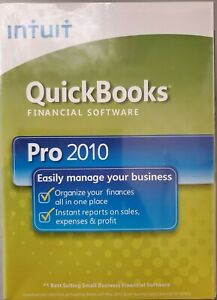 New Intuit QuickBooks Pro 2010 - 5 Users Edition Full Retail for Windows Sealed