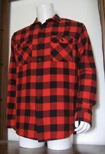 L Men Burton Brighton Burly Fiery Buffalo Long Sleeve Flannel Shirt Red NWT