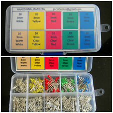 Box of 200 LEDs 3mm, inc. res FREE 1st class POSTAGE