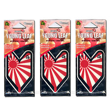 3 PACK Wakaba Japan Treefrog Young Leaf White Peach Scent JDM Air Freshener