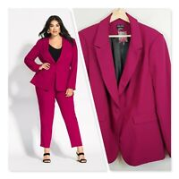 [ CITY CHIC ] Womens Magenta Mrs Draper Jacket NEW   | Size M or AU 18  / US 14