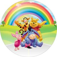 Winnie the Pooh 7 Inch Edible Image Cake / Cupcake Toppers PARTY/ CAKE BIRTHDAY