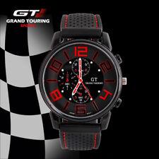 Montre GT Grand Touring Homme Sport/Militaire Noir/Rouge Bracelet En Silicone