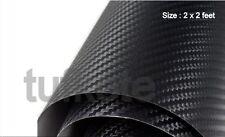 3D Carbon Fiber BLACK Twill-Weave Matte Design Decal Vinyl Film 24 x 24 Inches