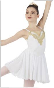 Weissman Small Adult White Dance Costume Esmerelda 10922 Lyrical Ballet