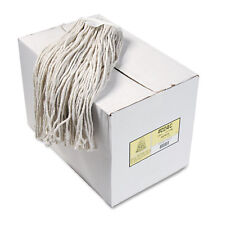Boardwalk Premium Cut-End Wet Mop Heads Cotton 24oz White 12/Carton 224CCT