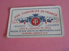 1 losse speelkaart / 1 single playing card / 1 carte  AUX VIGNOBLES DE FRANCE