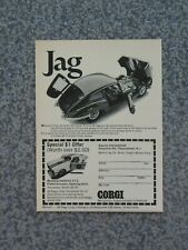 Vintage 1968 Corgi Jaguar Advertisement